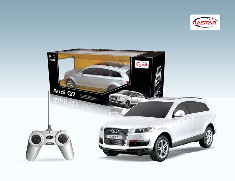 Radijo bangomis valdomas automodelis Rastar 1:24 Audi Q7, 27300, 1vnt kaina ir informacija | Žaislai berniukams | pigu.lt
