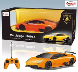 Radijo bangomis valdomas automobilis Rastar Murcielago 1:24, LP670-4, 1vnt kaina ir informacija | Žaislai berniukams | pigu.lt