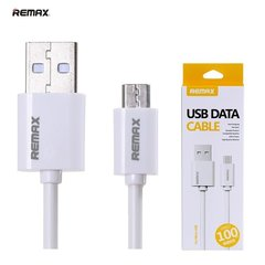 Remax Extra protection MicroUSB-USB 1m laidas, Baltas