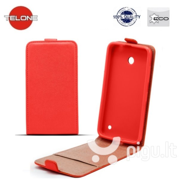 Telone Shine Pocket Slim Flip Case Sony Xperia Z5 Mini/Compact vertical book case Red
