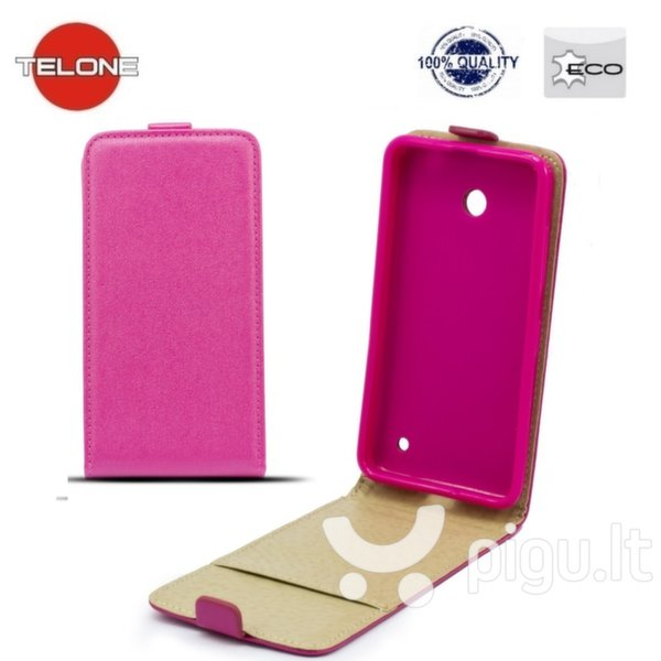 Telone Shine Pocket Slim Flip Case Sony Xperia Z5 Mini/Compact vertical book case Pink