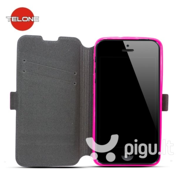 Telone Super Slim Shine Book Case with stand Huawei Ascend Y635 Pink