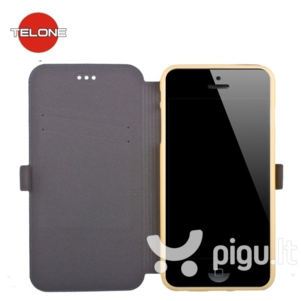 Telone Super Slim Shine Book Case with stand Huawei Ascend Y635 Gold