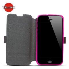 Telone Super Slim Shine Book Case with stand Huawei P8 Pink kaina ir informacija | Telefono dėklai | pigu.lt
