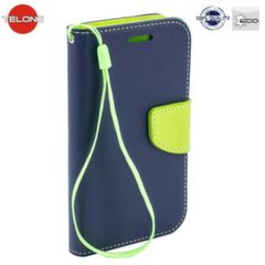 Telone Fancy Diary Bookstand Case Huawei Honor 4C Blue/Light Green kaina ir informacija | Telefono dėklai | pigu.lt