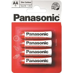 Panasonic elementai Red Zinc R6 (AA),4 vnt.