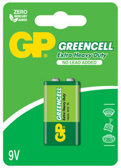GP Greencell elementai 6F22 (9V)