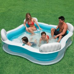 Pripučiamas baseinas Intex Swim center Family lounge 229x229x66 cm