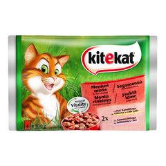 "KITEKAT konservuoto ėdalo katėms rinkinys ""Meniu rinkinys"" 4x100g"