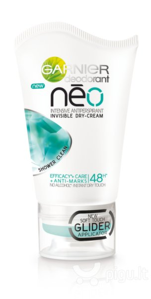 Kreminis dezodorantas Garnier Neo Shower Clean Intensive 40 ml