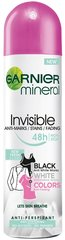 Purškiamas dezodorantas Garnier Mineral Invisible Black White Colors Fresh 150 ml