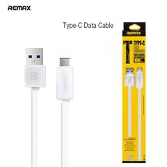 Remax Flat & Soft USB-Type-C 1m, Baltas