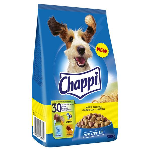 CHAPPI sausas ėdalas šunims su paukštiena 500g