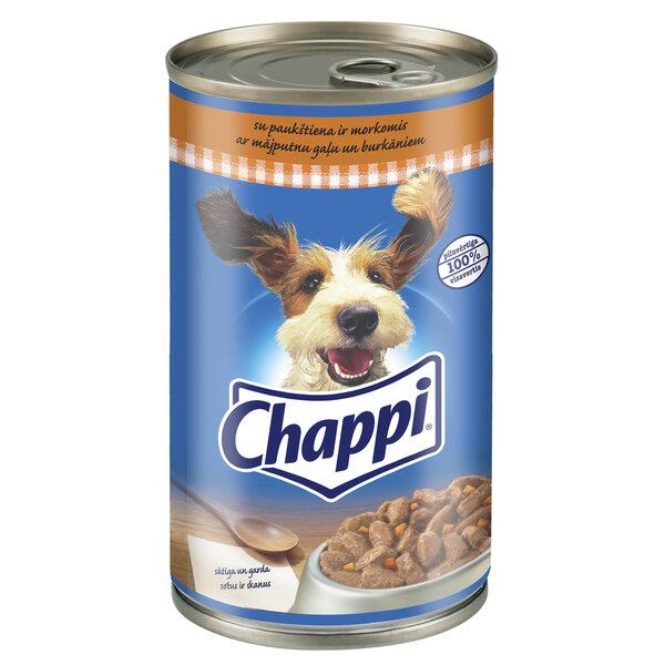 CHAPPI konservuotas ėdalas šunims su paukštiena ir daržovėmis 1,2kg