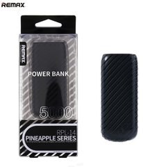 Remax Pineapple 5000mAh Power Bank + LED, Juodas