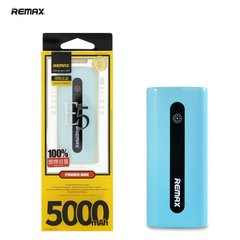 Remax E5 5000mAh Power Bank, Mėlynas