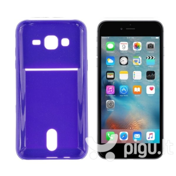 Apsauginis dėklas Roar Card Pocket Jelly skirtas Apple iPhone 6/6S, Violetinis