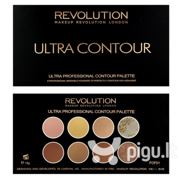 Veido kontūravimo paletė Makeup Revolution London Ultra 13 g internetu
