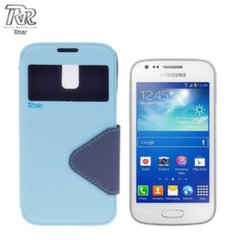 Roar Fancy Diary S-View Book Case with window and stand Samsung G313H Galaxy Ace NXT Light Blue/Blue (EU Blister) kaina ir informacija | Telefono dėklai | pigu.lt