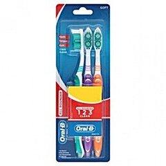 Dantų šepetėliai Oral-B All Round Clean Soft 3 vnt.