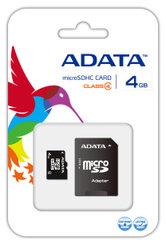 ADATA microSDHC 4 GB su SD adapteriu