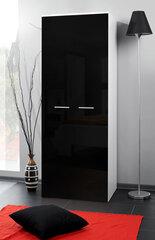 Spinta 2D, juoda blizgi/balta kaina ir informacija | Spintos | pigu.lt