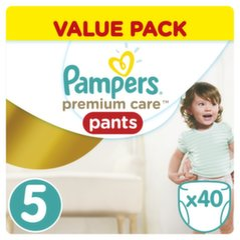 Sauskelnės PAMPERS Premium Care Pants, 5 dydis, 40 vnt.