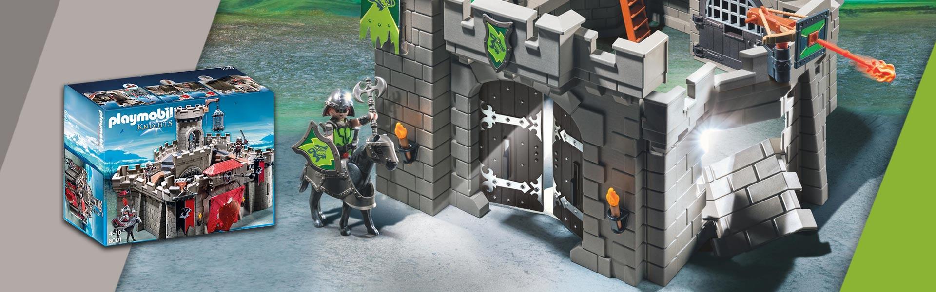 Konstruktorius 6041 PLAYMOBIL® Knights, Vilko riteriai su katapulta                             KNIGHTS PLAYMOBIL®